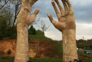 Artist's hands create Halloween spectacle