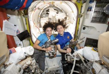 Space station's 2 women prep for 1st all-female spacewalk
