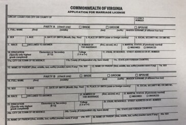 Federal judge finds Virginia marriage application requirement unconstitutional