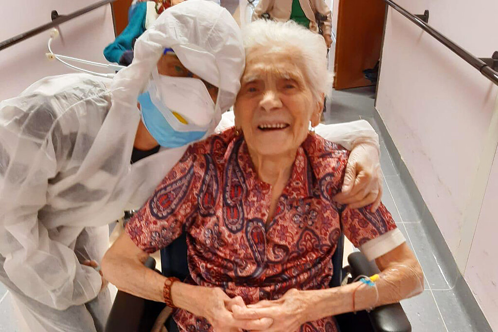 103-year-old Italian says 'courage, faith' helped beat coronavirus